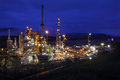 Oil Refinery Night Shift Royalty Free Stock Photo