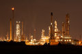 Oil refinery petrochemical plant at industial estate night time beautiful light of Royalty Free Stock Photo