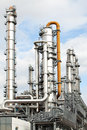Oil refinery petroleum industry pipelines  Stock Photo