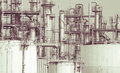 Oil refinery plant detail  in vintage tone edit Royalty Free Stock Photo