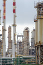 Oil refinery plant with lot of pipes Royalty Free Stock Image