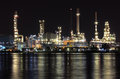 Oil refinery plant night scene in Thailand Royalty Free Stock Image