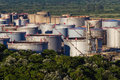 Oil Refinery Storage Tanks  Stock Images