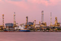 Oil refinery twilight at bangkok thailand Stock Images