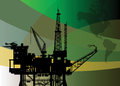 Oil rig abstract background color illustration Royalty Free Stock Images