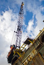 Oil rig crane Royalty Free Stock Photography