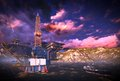 Oil rig  platform Stock Photos