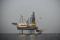 Oil and rig platform operation in north sea, Heavy industry in oil and gas business in offshore, rig operation