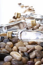 Oil and stones. Royalty Free Stock Photo