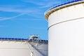 Oil storage silos Royalty Free Stock Photo