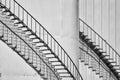 Oil storage staircase shadows Royalty Free Stock Photo