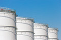 Oil storage tanks Royalty Free Stock Photo