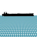 Oil tanker with dollars Stock Images