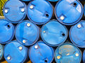 Oil tanks the blue Stock Image