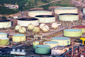 Oil tanks in an industrial plant Stock Image