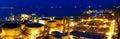 Oil tanks at night hongkong Stock Photography