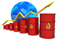 Oil trading concept Stock Photos