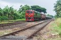 Oil train passing ragama old pasing srilanka on Royalty Free Stock Photography