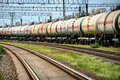 Oil transportation in tanks by rail Stock Image