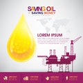 Oil Vector Concept Saving Oil Saving Money Royalty Free Stock Photo