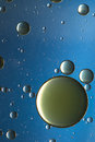 Oil and water, blue planets Royalty Free Stock Photo
