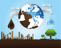 oil and water industry concept, extraction, processing