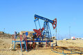 Oil wells in baku azerbaijan Stock Photography
