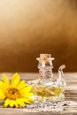 Oilcan of sunflower oil Royalty Free Stock Photo