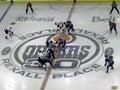 Oilers vs. Mighty Ducks 4 Stock Image