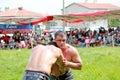 Oily wrestling Royalty Free Stock Photo