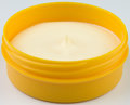 Ointment cream in a yellow bowl Royalty Free Stock Photography
