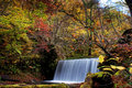 Oirase stream autumn colors of at aomori japan Stock Photo