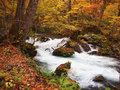 Oirase streams aomori japan beautiful very popular to both japanese tourist especially during autumn in Stock Photo