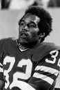 Oj simpson buffalo bills former great and hall of famer image taken from b w negative Royalty Free Stock Images