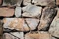Ojämn stonework Arkivbild