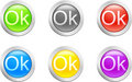 Ok button. [Vector] Royalty Free Stock Photography