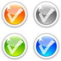 OK buttons. Royalty Free Stock Images