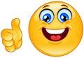 Ok emoticon Royalty Free Stock Photo