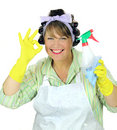 OK Housewife Royalty Free Stock Photo