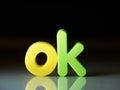 Ok or okay concept word Stock Image