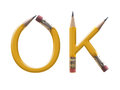 OK pencils Stock Photo