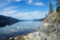 Okanagan lake kelowna pauls tomb trail british columbia canada on Royalty Free Stock Image