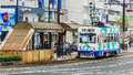 Okayama street car japan november in japan on november only cover a small area in central city day pass Stock Image