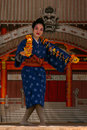 Okinawan dancer Royalty Free Stock Photo