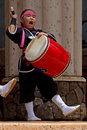 Okinawan drummer Royalty Free Stock Photos