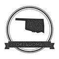 Oklahoma vector map stamp.