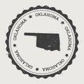 Oklahoma vector sticker.