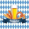 Oktoberfest abstract food and drink on special background Stock Image