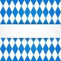 Oktoberfest background. Bavarian flag patter Royalty Free Stock Photo