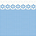 Oktoberfest background with blue-white checkered pattern Royalty Free Stock Photo
